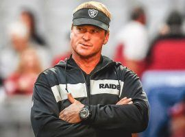 Oakland Coach Jon Gruden will see a difficult 2019 schedule, and his team could struggle. (Image: Getty)