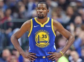 Golden State Warriors forward Kevin Durant is a free agent after this season, and there has been lots of speculation on where he might play next year. (Image: Getty)