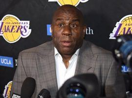 Magic Johnson talked about why he left the Los Angeles Lakers, and painted an unflattering portrait of the organization. (Image: Getty)