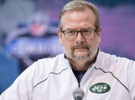 New York Jets ex-general manager Mike Maccagnan during the NFL Combine workouts. (Image: Trevor Ruszkowski/USA Today Sports)