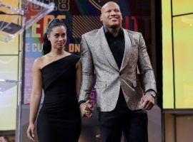 Ryan Shazier and longtime girlfriend Michelle Rodriguez married Friday, 18 months after he suffered a serious spinal injury. (Image: David J. Phillip, AP)