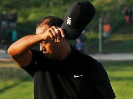 Tiger Woods shot two over par rounds at the PGA Championship, and missed the cut by a stroke. (Image: USA Today Sports)