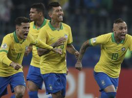 Brazil outlasted Paraguay in a shootout to advance to the semifinals of the 2019 Copa America. (Image: Natacha Pisarenko/AP)