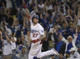 LA Dodgers outfielder Alex Verdugo hits a walk-off home run at Dodger Stadium in Las Angeles. (Image: Getty)
