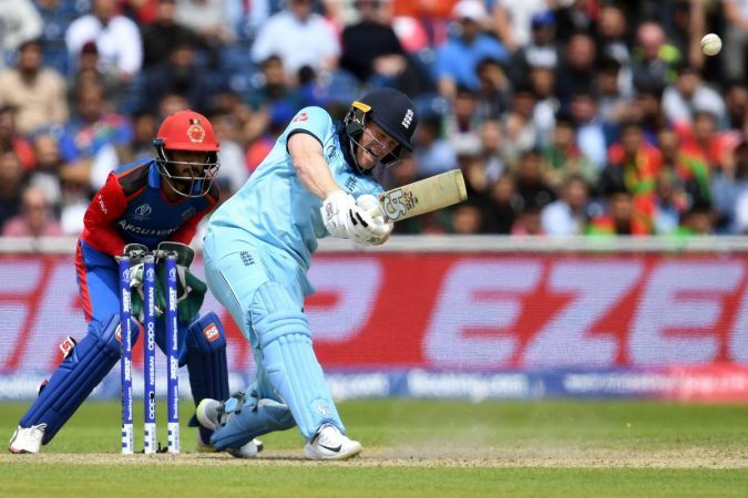 Eoin Morgan set a new ODI record by hitting 17 sixes for England vs. Afghanistan at the Cricket World Cup. (Image: Dibyangshu Sarkar/AFP/Getty)