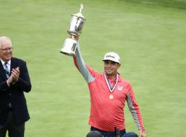 Gary Woodland held off Brooks Koepka to win the 2019 US Open at Pebble Beach. (Image: Getty)