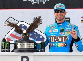 Kyle Busch put in a dominant performance at Pocono Raceway to pick up his fourth win of the NASCAR season. (Image: Chris Trotman/Getty)