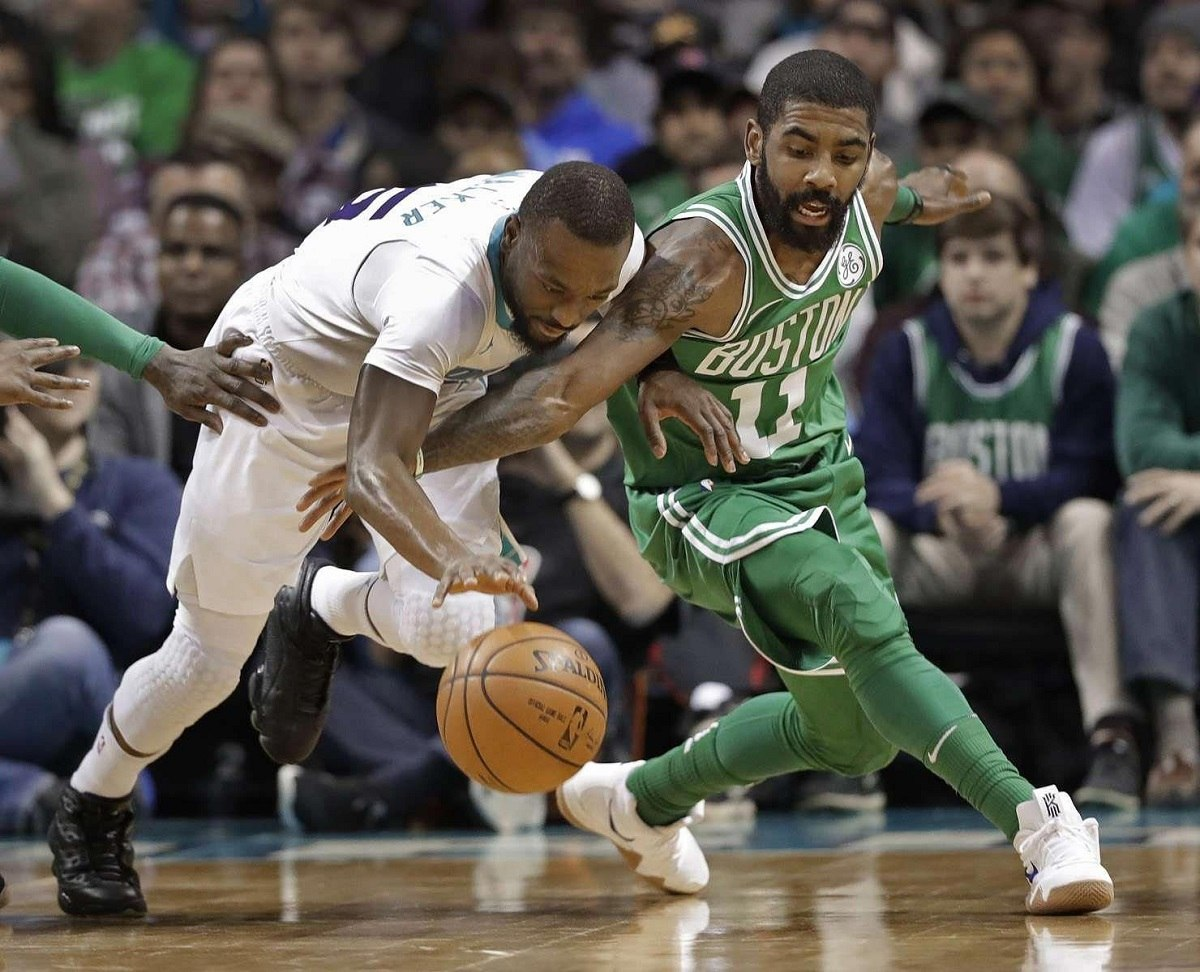 Kemba Walker and Kyrie Irving