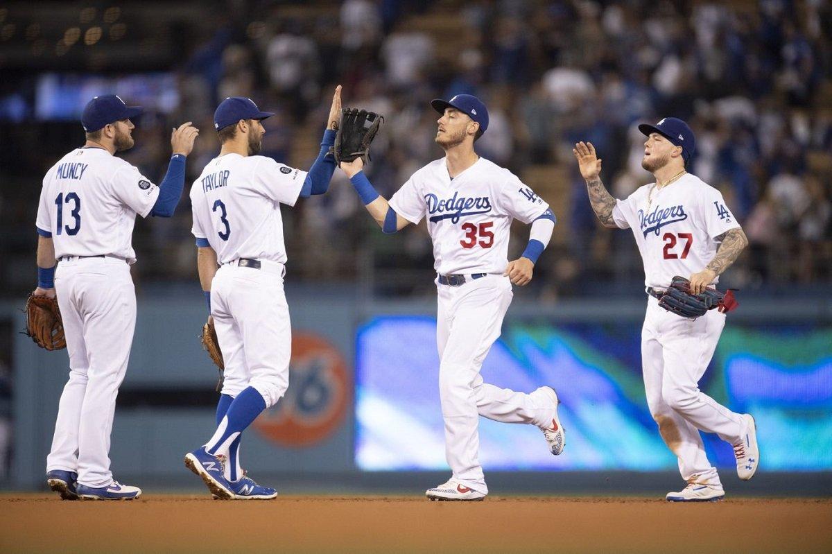 LA Dodgers winning