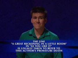 James Holzhauer during Final Jeopardy! on his 33rd episode of Jeopardy! (Image: Sony Pictures Television)