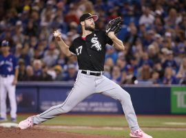 Chicago White Sox pitcher Lucas Giolito shutting down the Toronto Blue Jays at Rogers Centre in Toronto. (Image: Tom Szczerbowski/Getty)