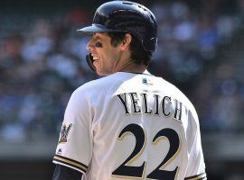 Outfielder Christian Yelich of the Milwaukee Brewers at Miller Park. (Image: Getty)