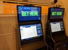 Kiosks like these ones from the FanDuel Sportsbook in New Jersey may soon become common at New York casinos under newly approved sports betting rules. (Image: Ed Scimia/OnlineGambling.com)
