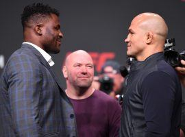 Francis Ngannou will take on Junior dos Santos in the main event of UFC on ESPN 3 in Minneapolis. (Image: Getty)