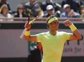 Rafael Nadal beat Roger Federer in straight sets to advance to his 12th French Open final. (Image: Michel Euler/AP)