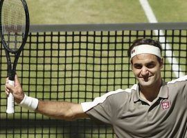 Roger Federer won the Halle Open for the 10th time in his career by defeating David Goffin in Sunday's final. (Image: Friso Gentsch/AP)
