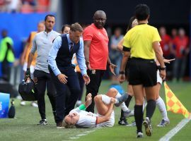 England could be without Steph Houghton in the Women's World Cup quarterfinal vs. Norway after she suffered an ankle injury vs. Cameroon. (Image: Marc Atkins/Getty)