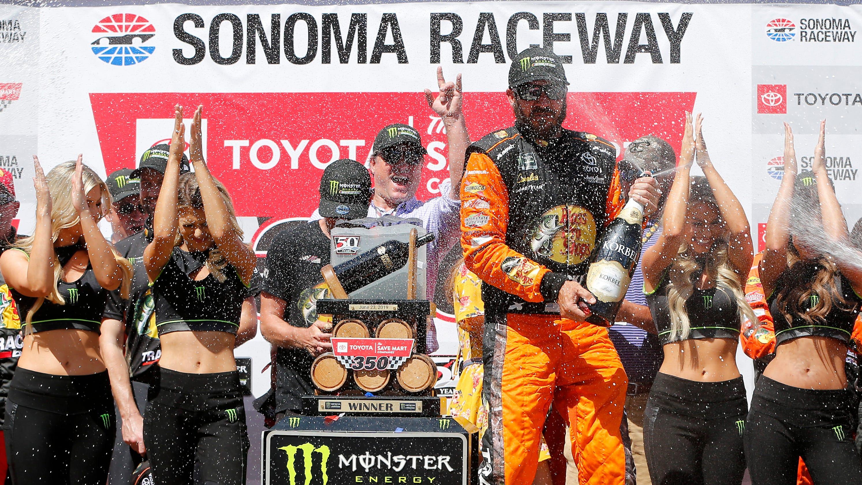 Truex Busch Sonoma Raceway