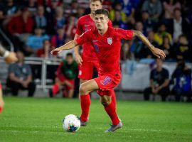 Christian Pulisic and the United States are heavily favored to get past Curacao in the Gold Cup quarterfinals on Sunday. (Image: Bruce Kluckhorn/USA Today Sports)