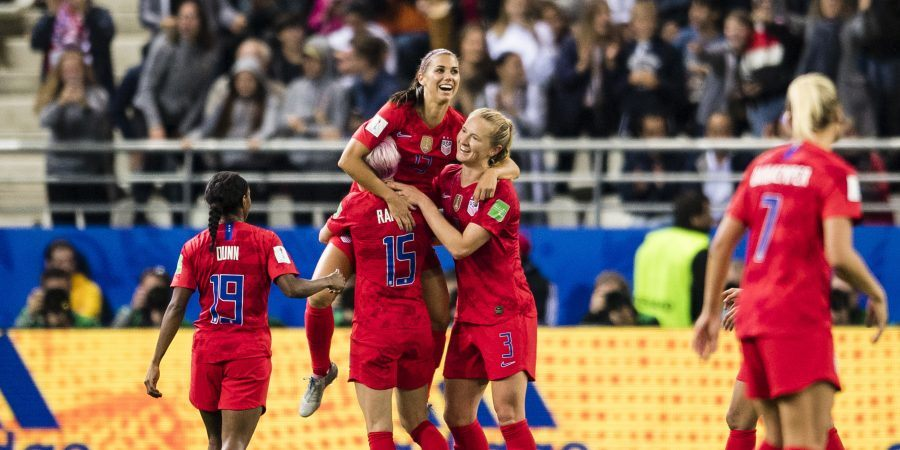The United States will finish up group play at the Women's World Cup with a match against longtime rival Sweden on Thursday. (Image: Marcio Machado/Getty)