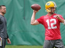 Green Bay quarterback Aaron Rodgers has reportedly butted heads with new coach Matt LaFleur over aspects of the offensive system. (Image: USA Today Sports)