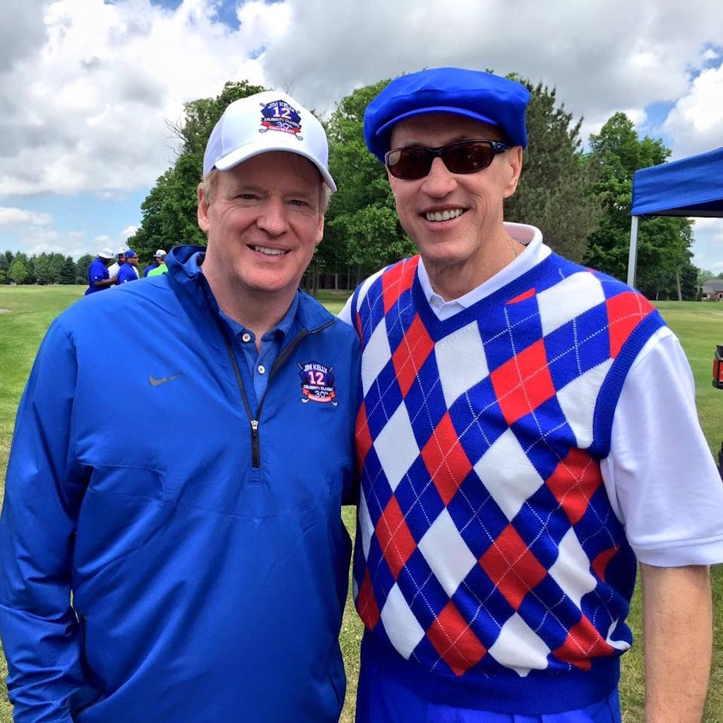 Roger Goodell, Jim Kelly