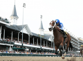 Mr. Money, under Gabriel Saez, romping home and easy winner in the Matt Winn Stakes Saturday under the Twin Spires at Churchill Downs.
