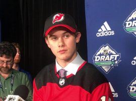 Jack Hughes was the No. 1 pick of the New Jersey Devils in last week's NHL draft. (Image: Abbey Mastracco)