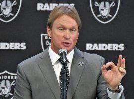 Jon Gruden, head coach of the Oakland Raiders, at a press conference in 2018. (Image: AP)