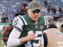 Josh McCown on the sidelines as a backup QB for the NY Jets last season at MetLife Stadium. (Image: Getty)