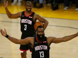 James Harden and Chris Paul are teammates 'til the end. (Image: Sports Illustrated)