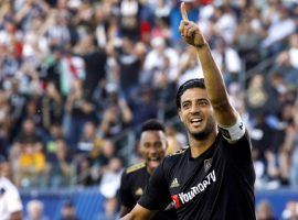 Carlos Vela has led LAFC to a league-best record in the first half of the MLS season. (Image: Patrick T. Fallon/Los Angeles Times)