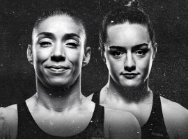 Germaine de Randamie (left) will take on undefeated Aspen Ladd (right) in the main event at UFC Fight Night 155. (Image: UFC)