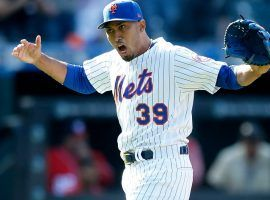 NY Mets closer Edwin Diaz celebrates a victory and save at CitiField in Queens, NY (Image: Jim McIsaac/Getty)