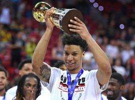 Brandon Clarke led the Memphis Grizzlies past the Minnesota Timberwolves in the NBA Summer League championship game on Monday. (Image: Ethan Miller/Getty)