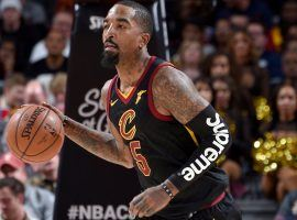 Shooting guard JR Smith with the Cleveland Cavs in 2018 at Quicken Loans Arena in Cleveland. (Image: David Liam Kyle/Getty)