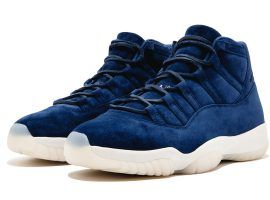 Blue Suede Air Jordan 11 released to commemorate Yankee Derek Jeter's retirement. One of only five pairs produced. (Image: Courtesy of Sothebys)
