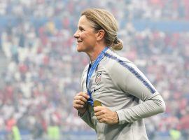 Jill Ellis is stepping down as the USWNT coach after leading the United States to two Women's World Cup titles. (Image: Yahoo Sports/Twitter)