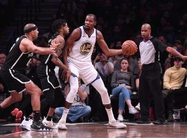 Nets general manager Sean Marks says that the team's system was key in Kevin Durant's decision to sign with Brooklyn. (Image: Matteo Marchi/Getty)