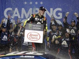 Alex Bowman picked up his first career NASCAR Cup Series victory on Sunday, winning the Camping World 400. (Image: Nam. Y. Huh/AP)