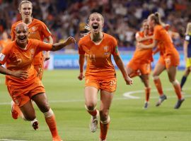 Jackie Groenen celebrates after scoring the winning goal in extra time for the Netherlands in a 1-0 victory over Sweden in the Women's World Cup semifinals. (Image: Robert Cianflone/Getty)