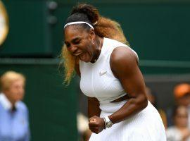 Serena Williams fended off a tough challenge from Alison Riske to reach the semifinals at Wimbledon. (Image: Getty)