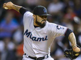Sergio Romo, closer for the Miami Marlins, pitching against the Chicago White Sox. (Image: Patrick Gorski/USA TODAY Sports)