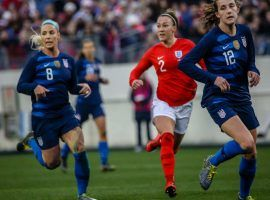 The USA and England last played at the 2019 SheBelieves Cup, where they fought to a 2-2 draw. They'll meet again on Tuesday in the semifinals of the Women's World Cup. (Image: Bernard Ayala/ayalasphotography.com)