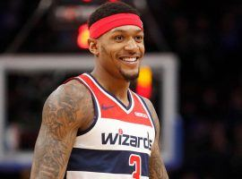 Bradley Beal, guard for the Washington Wizards, playing against the Brooklyn Nets in 2019. (Image: Porter Lambert/Getty)