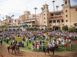 Del Mar's paddock will be packed on opening day, July 17, but top trainer Jerry Hollendorfer will be missing Image (Del Mar Thoroughbred Club)
