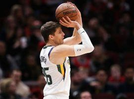 Ex-Jazz shooting guard Kyle Korver playing against the Chicago Bulls. (Image: Getty)