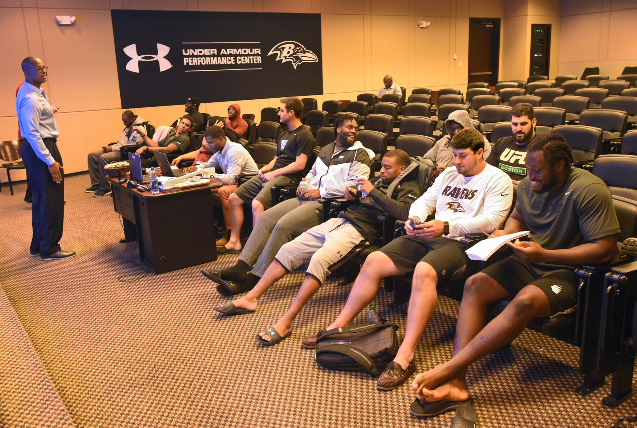 Baltimore Ravens rookie orientation session