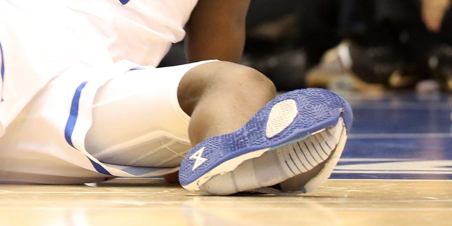 Zion's sneaker malfunction