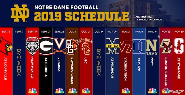 Notre Dame schedule